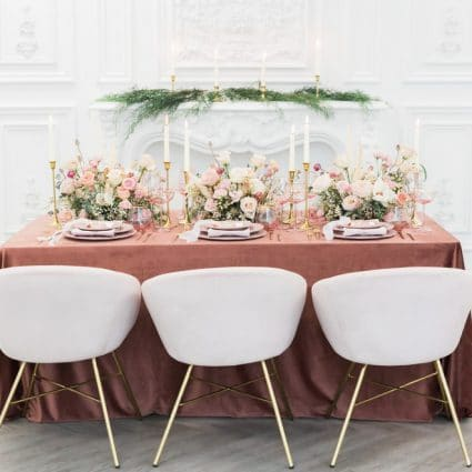 Opening Night Flowers featured in Styled Shoot: Blushing Spring Bride