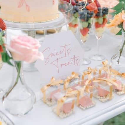 Succulent Chocolates featured in A Summery Chic-Inspired Styled Birthday Shoot