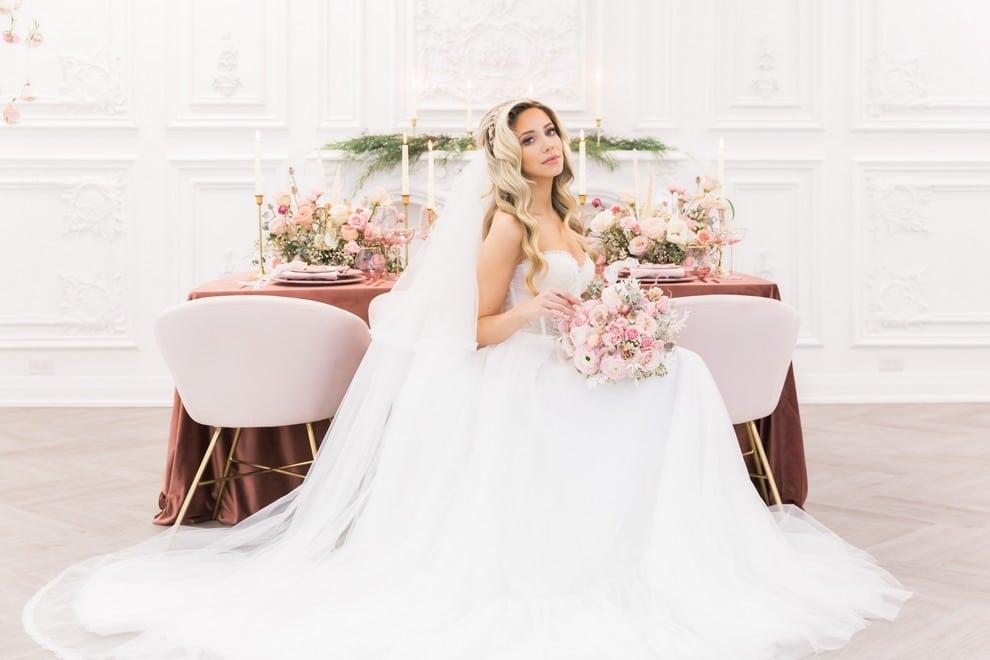 styled shoot blushing spring bride, 14