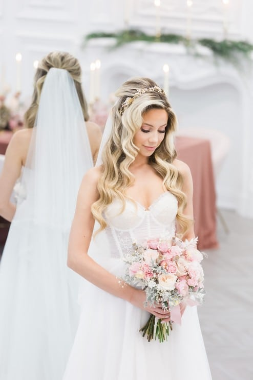 styled shoot blushing spring bride, 15