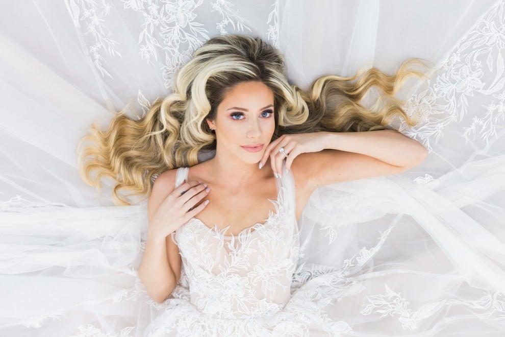 styled shoot blushing spring bride, 17
