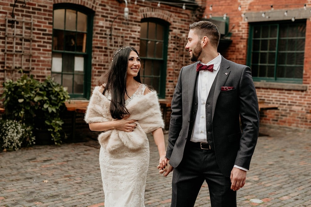 Pam and Marco's Cozy Wedding at The Loft at the Distillery District