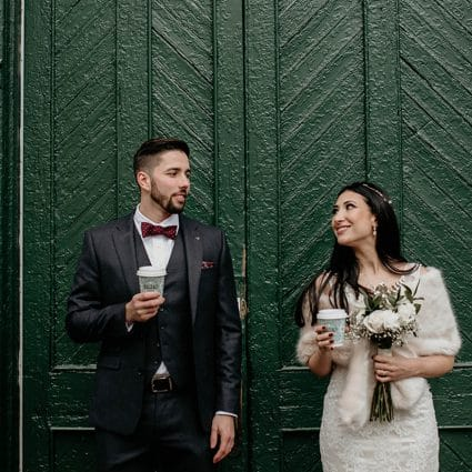 Thumbnail for Pam and Marco's Cozy Wedding at The Loft in The Distillery Di…