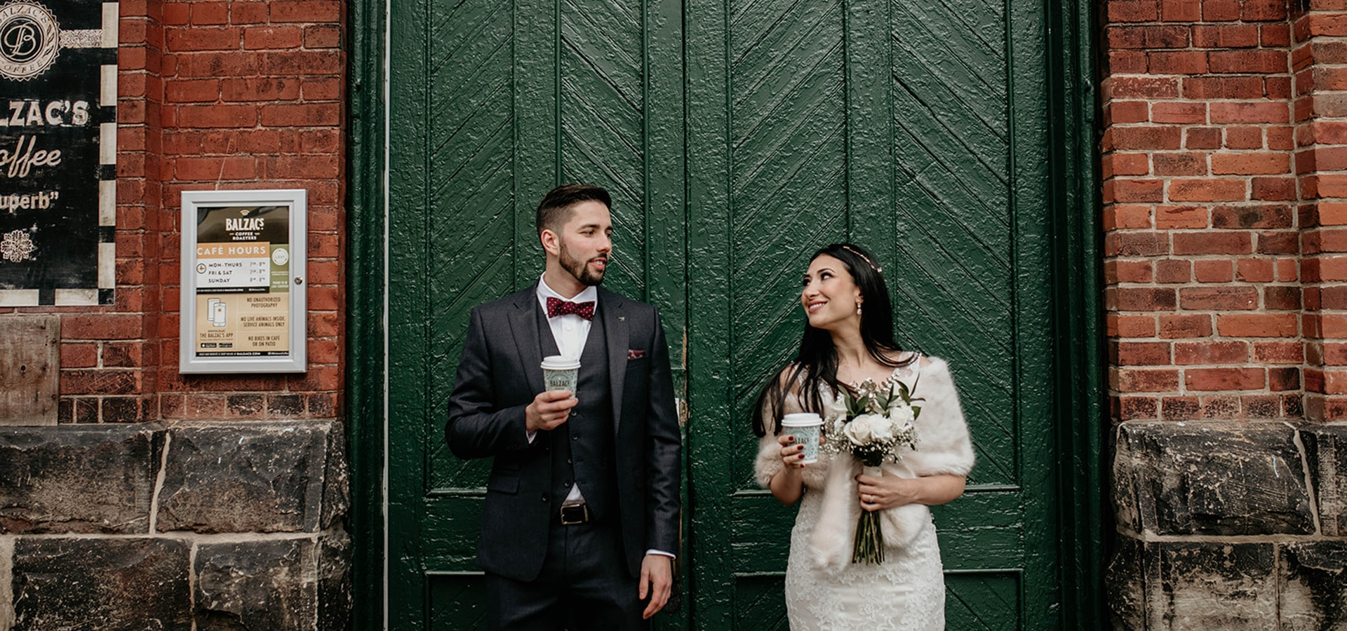 Hero image for Pam and Marco's Cozy Wedding at The Loft in The Distillery District