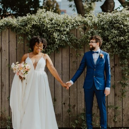 Ink and Aisle featured in Meghan and Fred's Beautiful Micro-Wedding at Boehmer Restaurant