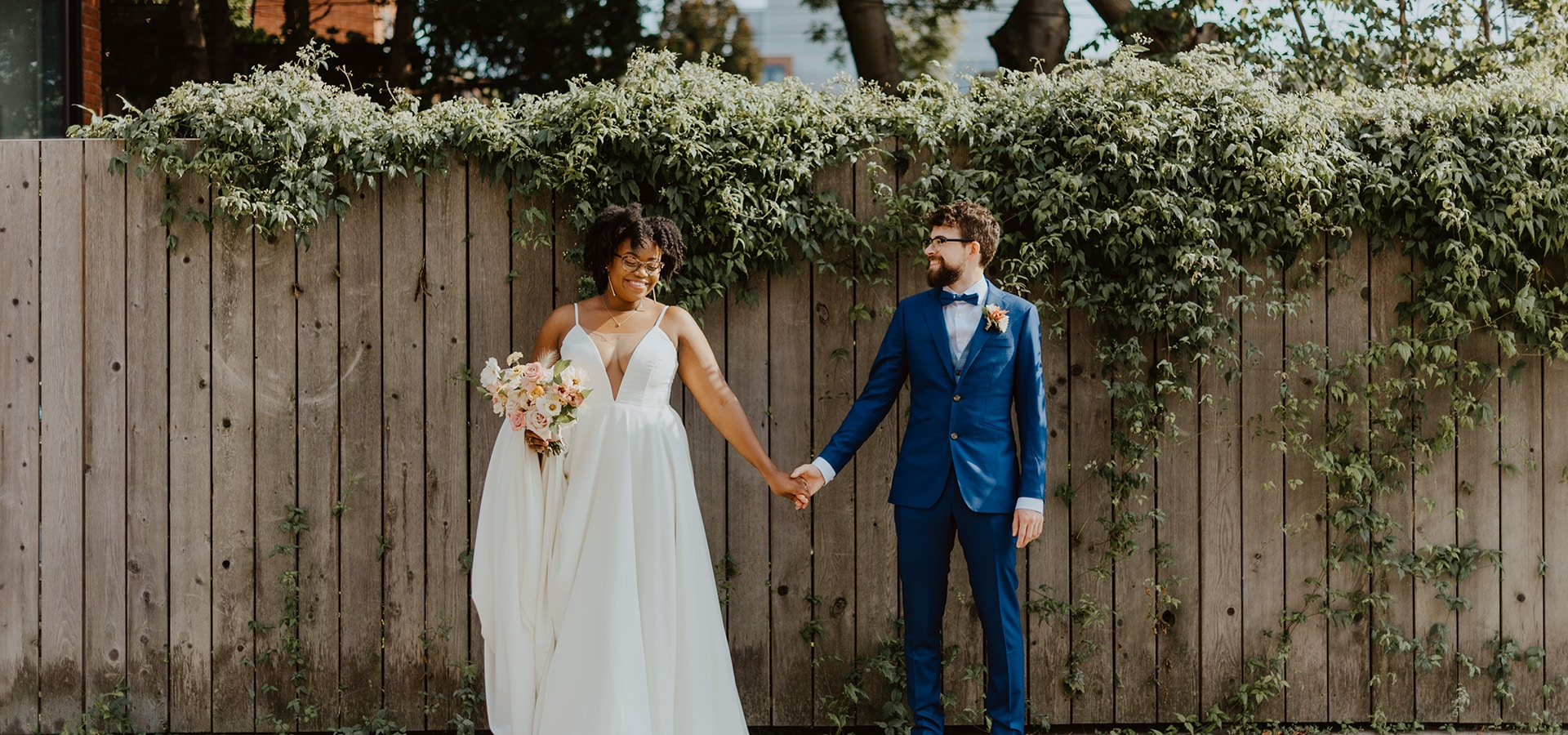 Hero image for Meghan and Fred's Beautiful Micro-Wedding at Boehmer Restaurant