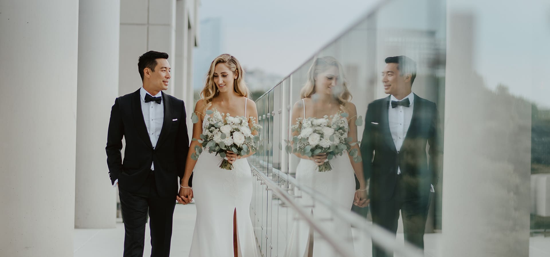 Hero image for Corrin and Albert's Rooftop Wedding at Hotel X