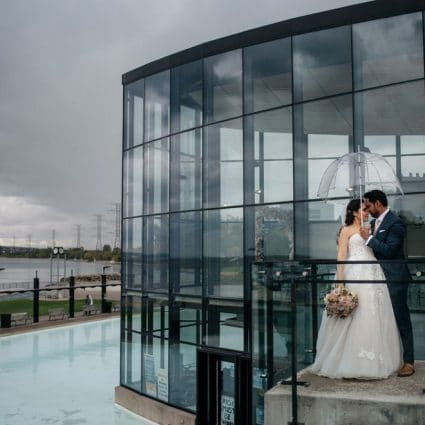 Spencer's at the Waterfront featured in Maggie and Sunil's Sweet and Simple Wedding at Spencer's at t…