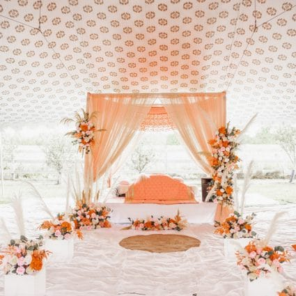 """Dash Events & Co featured in Harpreet and Tariq Say """"I Do"""" with an Intimate Summer Wedding"""
