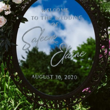 Sultana's Wedding Decor featured in Elaine and Saleem's Enchanting Fairy-Tale Wedding at Casa Lom…