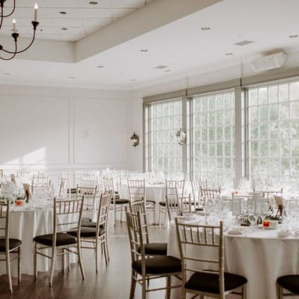 Country Lane Vintage Rentals featured in Emily and Tyson's Romantic Wedding at The Doctor's House