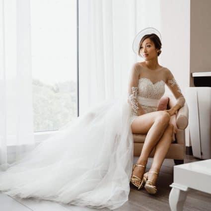 Hotel X Toronto featured in Virginia and Robert's Elegant Wedding at Hotel X