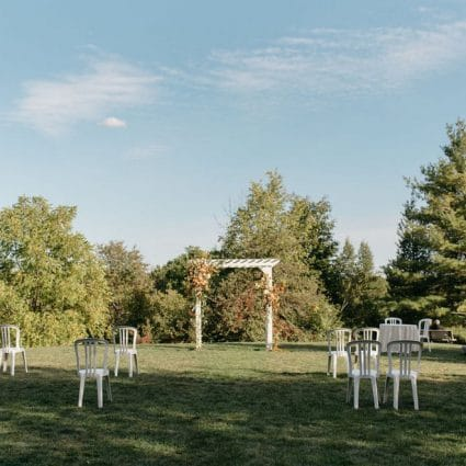The McMichael Canadian Art Collection featured in Nicky and Ben's Sweet Intimate Micro-Wedding at McMichael Can…