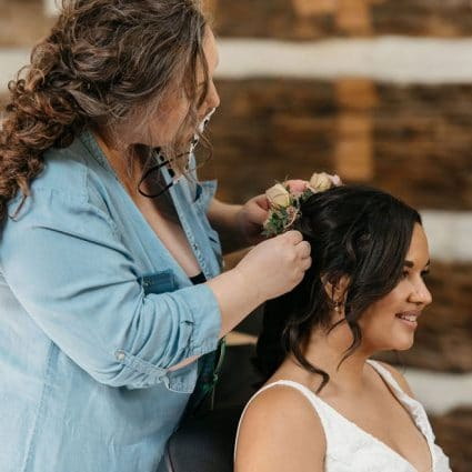 Corrie Elle Artistry featured in Nicky and Ben's Sweet Intimate Micro-Wedding at McMichael Can…