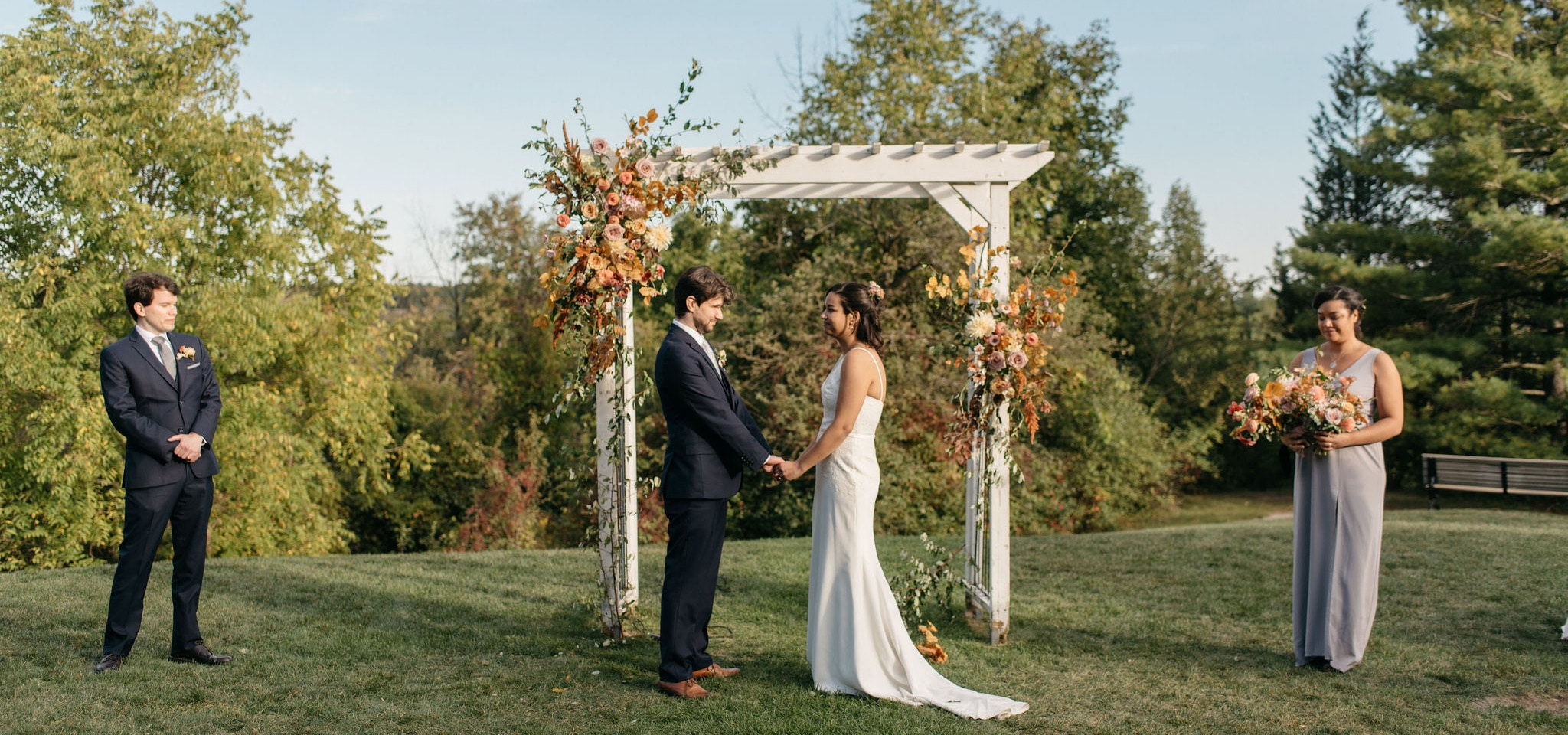 Hero image for Nicky and Ben's Sweet Intimate Micro-Wedding at McMichael Canadian Art Collection