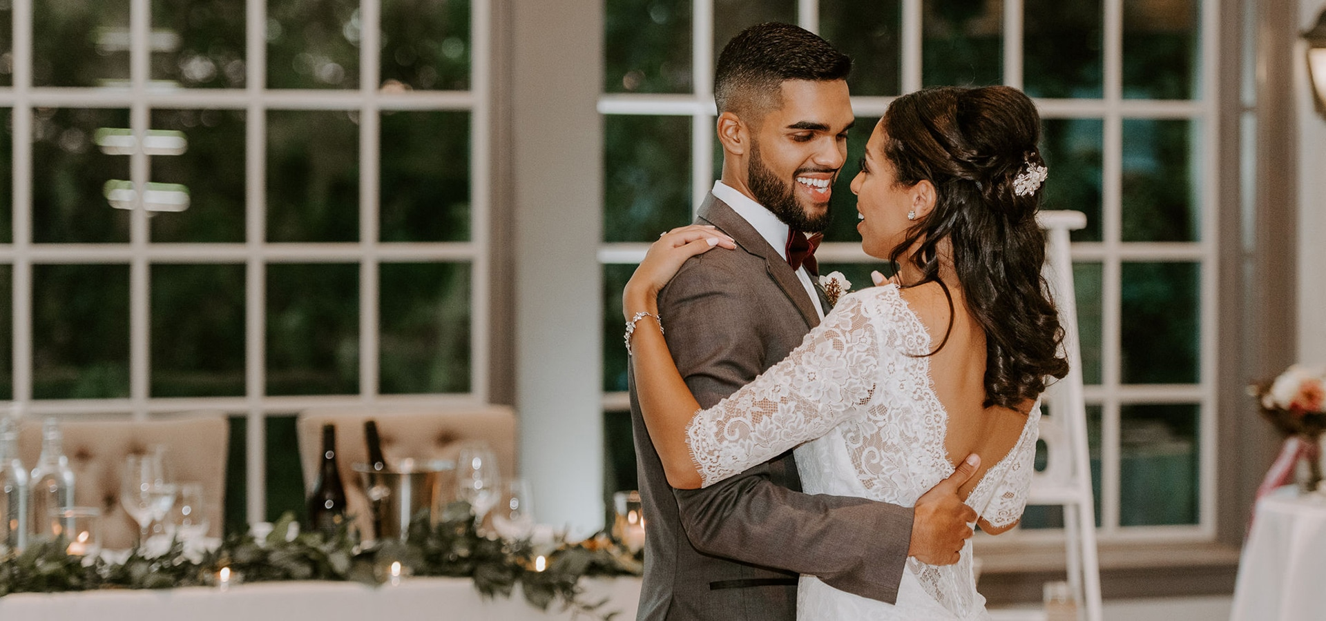 Hero image for Emily and Tyson's Romantic Wedding at The Doctor's House