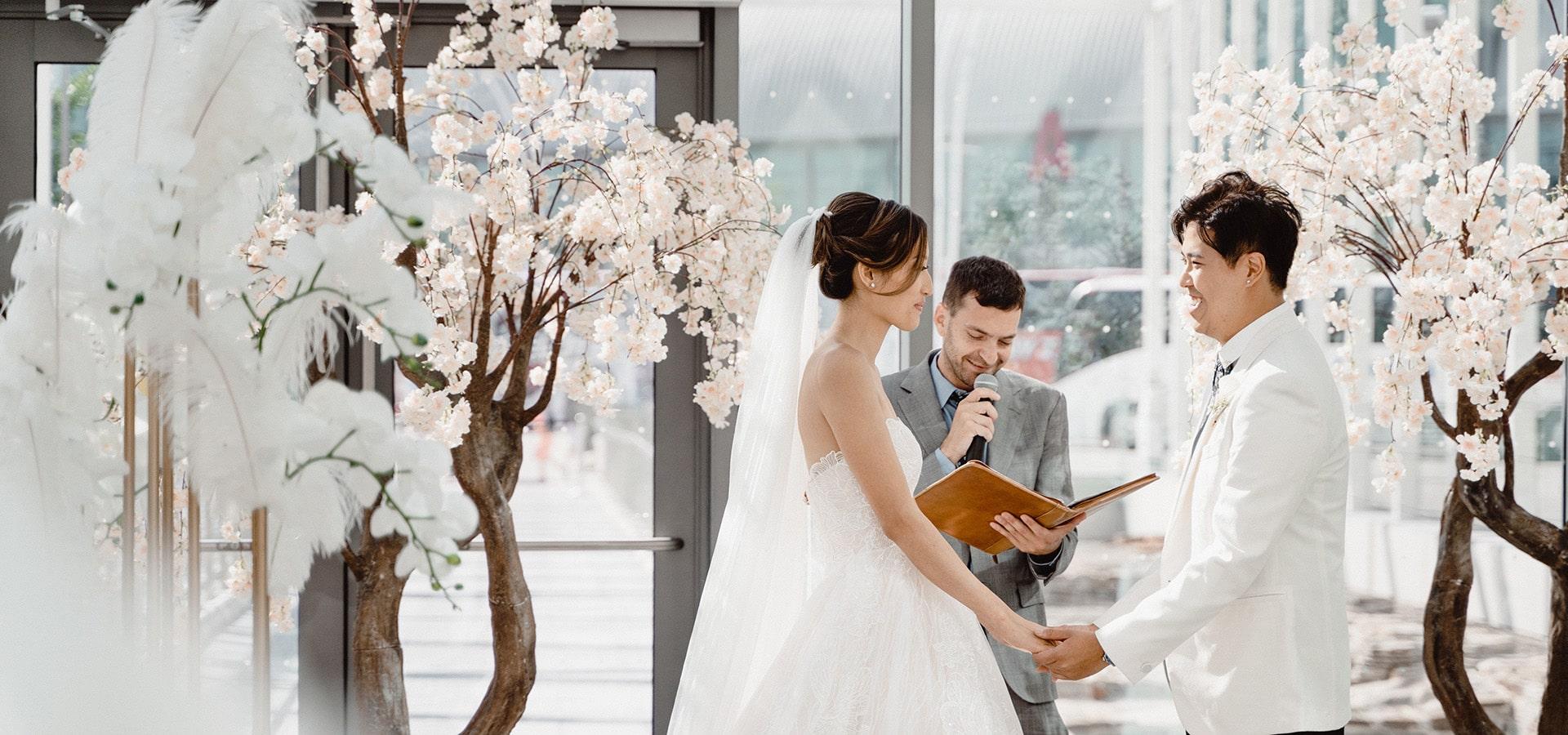 Hero image for Virginia and Robert's Elegant Wedding at Hotel X