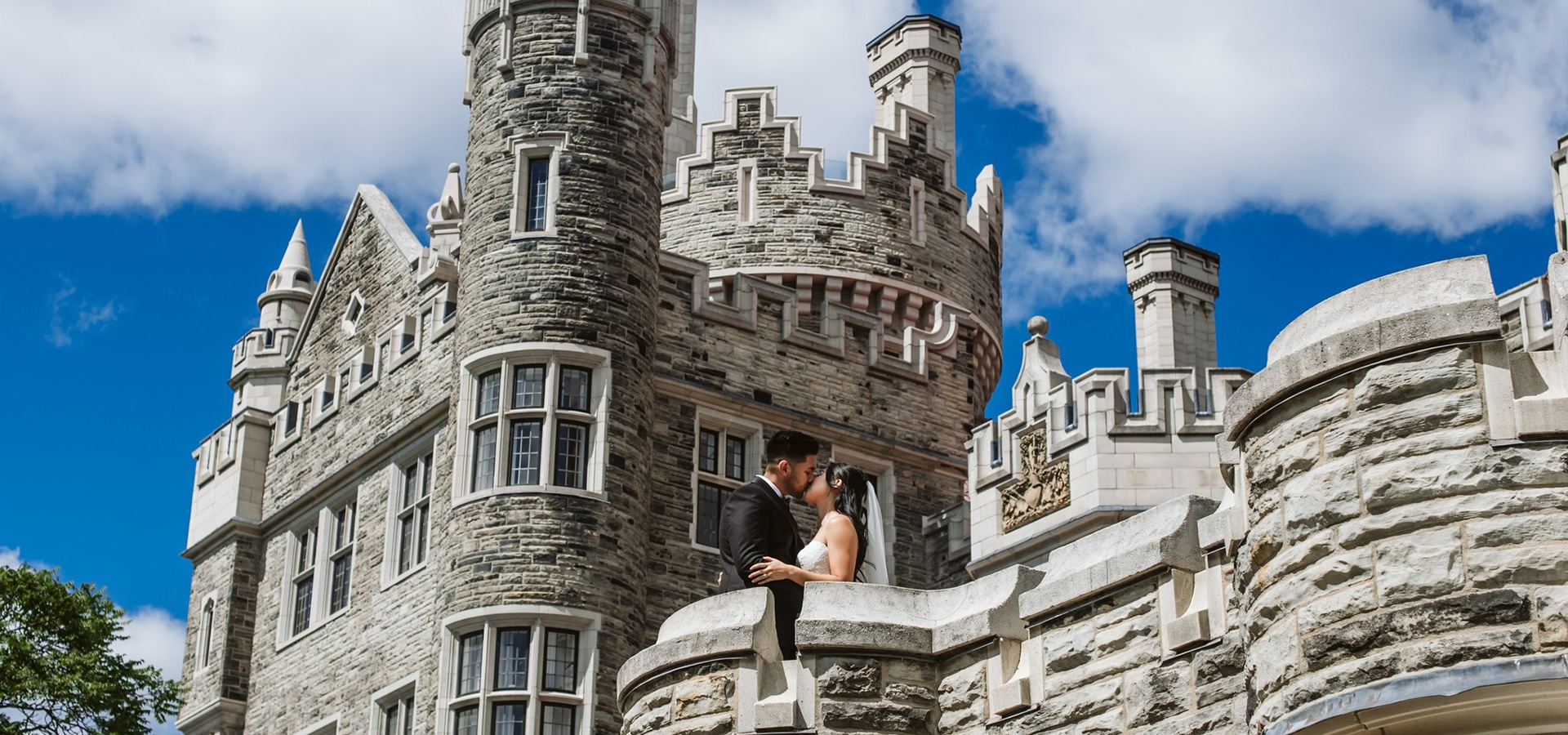 Hero image for Elaine and Saleem's Enchanting Fairy-Tale Wedding at Casa Loma and Guild Inn Estates