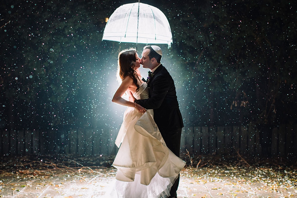 5 ways to prepare for rain on your wedding day, 5