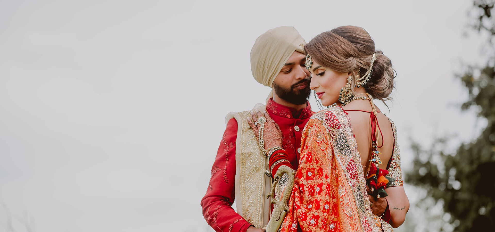 """Hero image for Harpreet and Tariq Say """"I Do"""" with an Intimate Summer Wedding"""