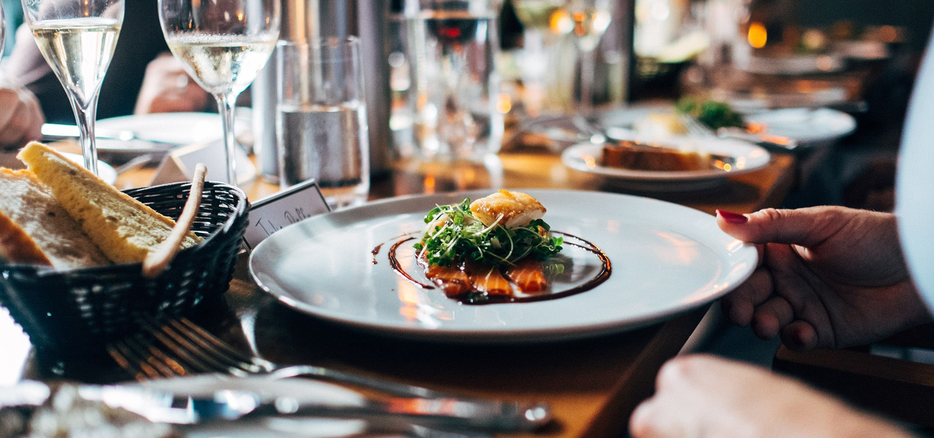 Hero image for The Pros and Cons of Serving a Plated Wedding Meal