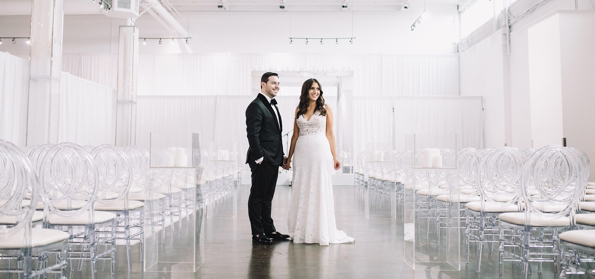 Hero image for Sami and Jordan's Romantic Wedding at The Warehouse Event Venue