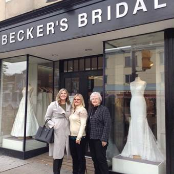 Becker's Bridals opened in 1944, we are pround to be serving generations of brides.