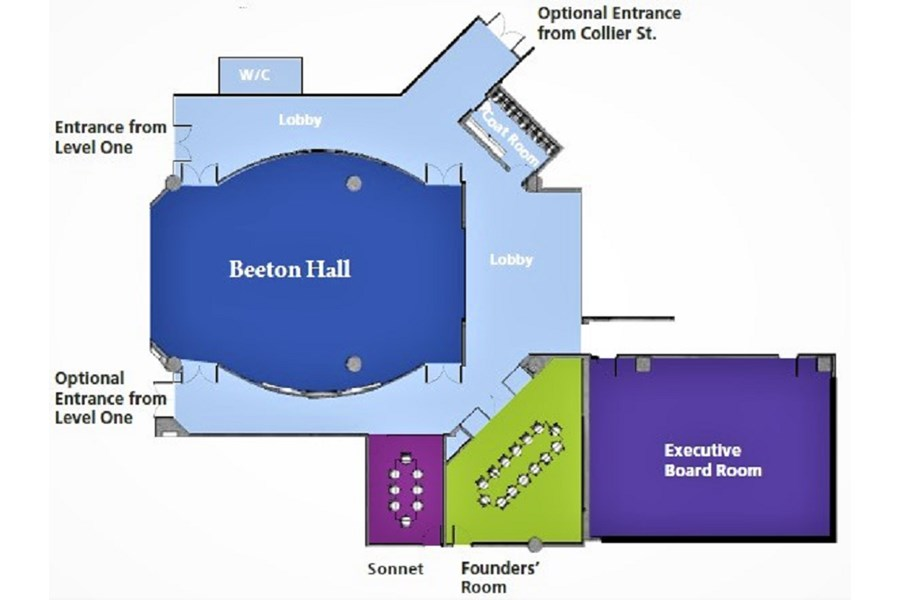 Beeton Hall Event Centre floorplan