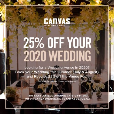 25% off your 2020 Wedding
