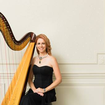 Harpist Chantal Dube