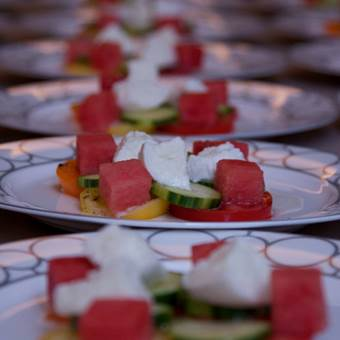 Rings Plates with Watermelon & Feta Salad