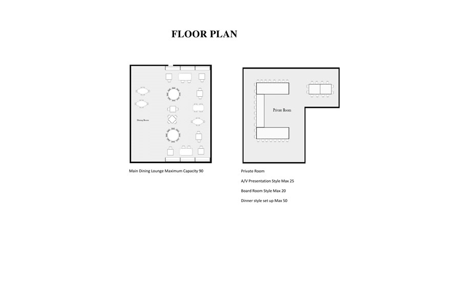 Floor Plan For La Luce Ristorante