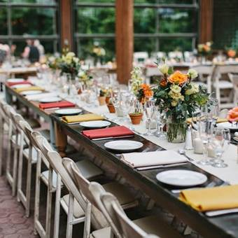 Harvest Tables & Shabby Chic Chairs