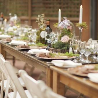 Harvest Tables and Shabby Chic Chairs