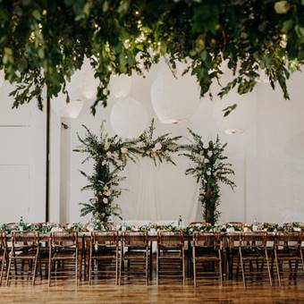 Harvest Tables and Woodland Chairs