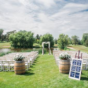 Ceremony Chairs, Arbour and Barrels