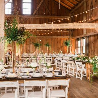 Harvest Tables and Shabby Chic Chairs Barn
