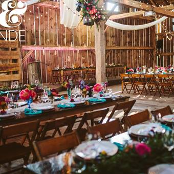 Harvest Tables and Vintage Chairs