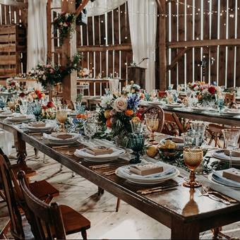 Harvest Tables and Farmhouse Chairs