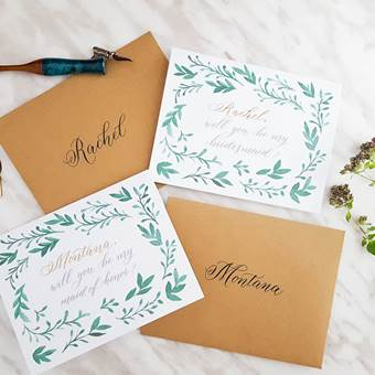 Personalized Bridal Party Cards