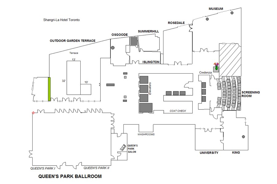 Floor Plan of Event Floor
