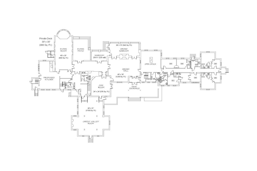 Main Mansion Floor Plan