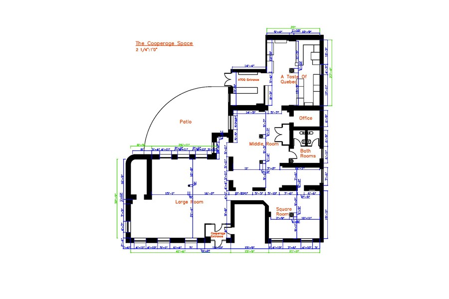 Cooperage Space Floor Plan - 4300 Square Feet